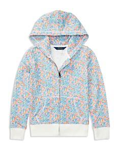 Polo Ralph Lauren Girls' Floral Fleece Zip-Up Sweater - Little Kid - Bloomingdale's_0