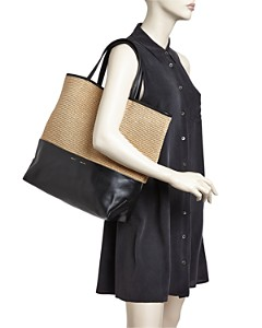 Alice.D - Extra Large Leather Tote Bag - 100% Exclusive