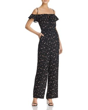 Bb Dakota Arleen Cold-Shoulder Floral Print Jumpsuit