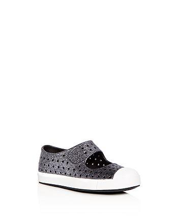 022b95b67c4 Native - Girls  Juniper Bling Waterproof Mary Jane Slip-On Sneakers -  Walker