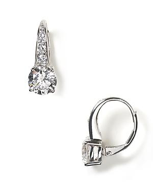 Round Leverback Earrings