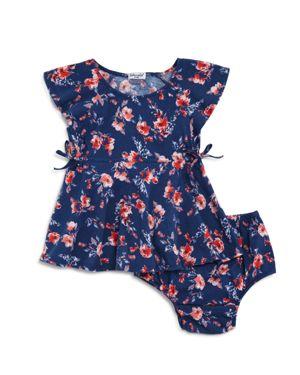 Splendid Girls' Floral Print Flutter-Sleeve Dress & Bloomers Set - Baby 2841759