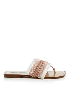 Sigerson Morrison - Women's Avis Raffia Thong Sandals