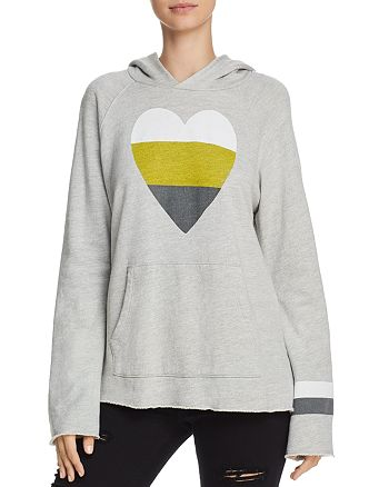 Sundry - Heart Graphic Hooded Sweatshirt