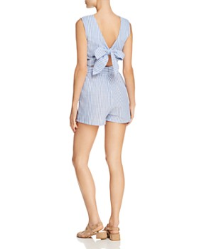 PPLA - Kingsley Striped Tie-Back Romper