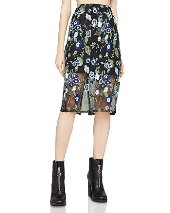 BCBGeneration - Embroidered Mesh Pencil Skirt