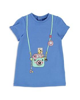 Little Marc Jacobs - Girls' Fleece Trompe L'Oeil Camera Dress - Baby