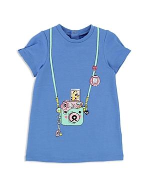 Little Marc Jacobs Girls Fleece Trompe LOeil Camera Dress  Baby