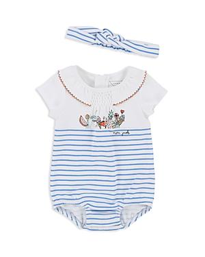 Little Marc Jacobs Girls' Striped Unicorn Bodysuit & Headband Set - Baby
