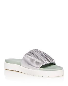 Daniella Lehavi - Women s Sahara Soft Leather Platform Slide Sandals ... fcfe1c1f8ff5e
