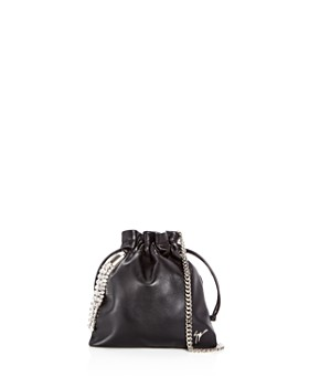 Giuseppe Zanotti - Crystal Embellished Drawstring Leather Crossbody