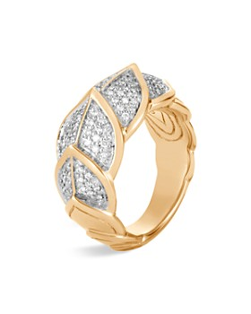 JOHN HARDY - 18K Yellow Gold Legends Naga Pavé Diamond Small Ring