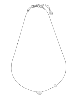 Majorica  SIMULATED PEARL & HEART NECKLACE, 15