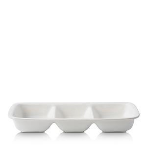 Juliska Puro Whitewash Divided Serving Dish
