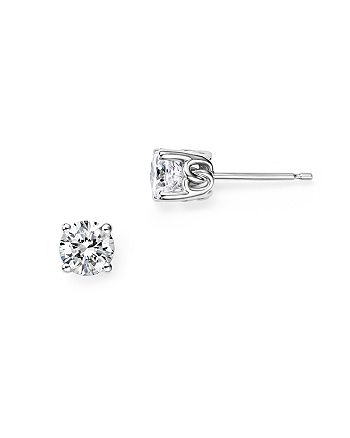 Bloomingdale's - Diamond Stud Earrings in 14K White Gold, 0.75 ct. t.w. - 100% Exclusive