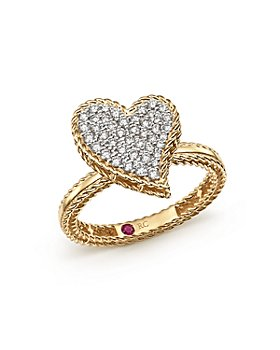 Roberto Coin - 18K Yellow Gold Tiny Treasures Diamond Heart Ring