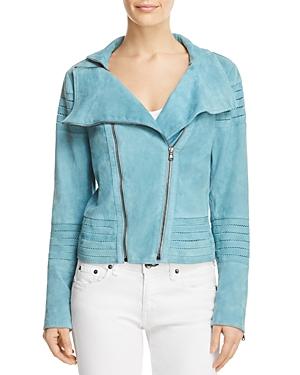 Elie Tahari Melanie Suede Moto Jacket