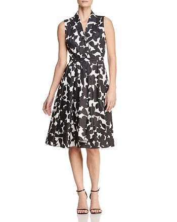 75961d9ef5e087 Donna Karan Sleeveless Floral-Print Fit-and-Flare Dress | Bloomingdale's