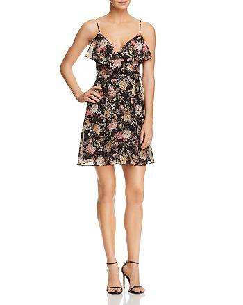 Bailey 44 - Object of Desire Floral Print Faux-Wrap Dress