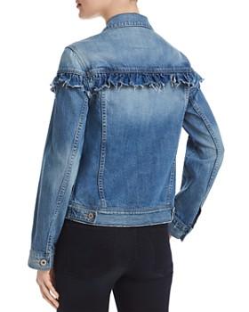 PAIGE - Heidi Ruffled Denim Jacket in Damonde - 100% Exclusive