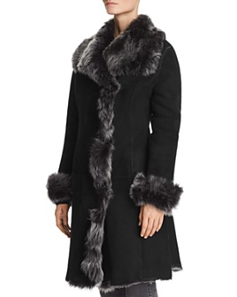Maximilian Furs - Shearling Coat with Toscana Shearling Wing Collar - 100% Exclusive