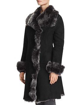 Maximilian Furs - Divine Shearling Coat with Toscana Shearling Wing Collar - 100% Exclusive