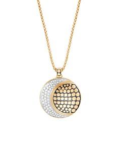 "John Hardy 18K Yellow Gold Dot Pavé Diamond Crescent Pendant Necklace, 36"" - Bloomingdale's_0"