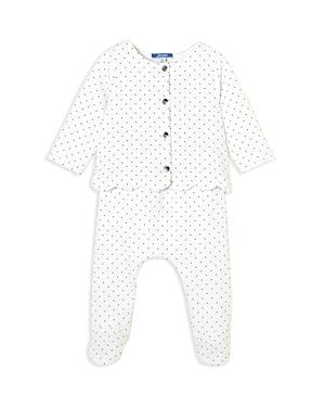 Jacadi Girls' Polka-Dotted Top & Footie Pants Set - Baby