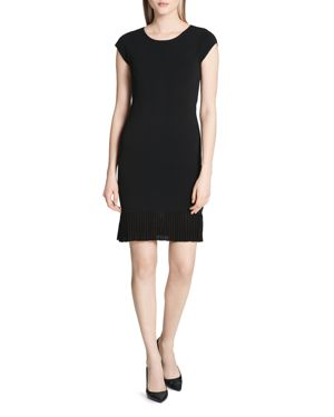 Calvin Klein Pleated-Hem Knit Dress