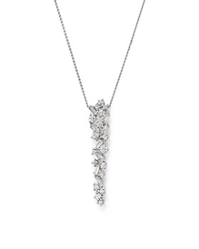 Bloomingdale's - Diamond Drop Pendant Necklace in 14K White Gold, 0.50 ct. t.w. - 100% Exclusive