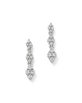 Bloomingdale's - Diamond Cluster Drop Earrings in 14K White Gold, 0.50 ct. t.w. - 100% Exclusive