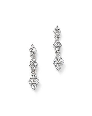 Bloomingdale's Diamond Cluster Drop Earrings in 14K White Gold, 0.50 ct. t.w. - 100% Exclusive