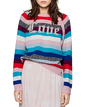 Zadig & Voltaire Justy Stripes Merino Wool Sweater