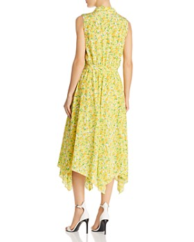 Boutique Moschino - Lemon-Print Silk Wrap Dress