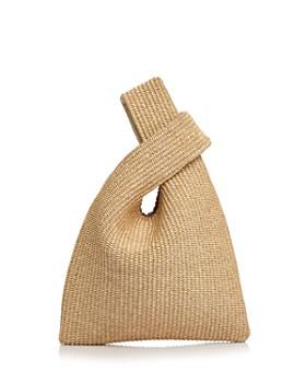 Arron - Raffia and Leather Crossover Bag