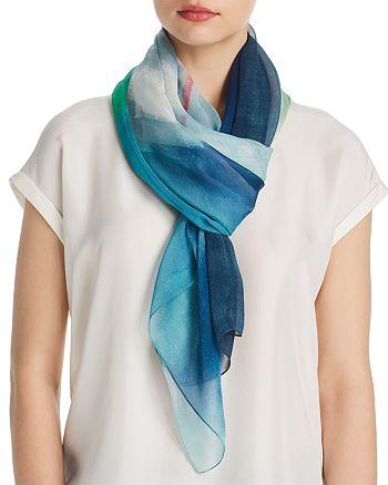 Larioseta - Brushstroke Print Silk Scarf