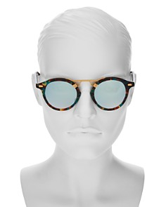 Krewe - Women's Krewe St. Louis 24K Mambo Mirrored Round Sunglasses, 46mm - 100% Exclusive