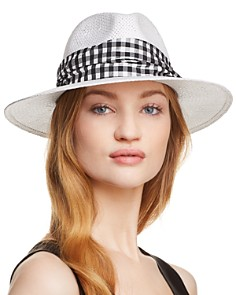 Helene Berman Gingham-Trim Fedora - Bloomingdale's_0
