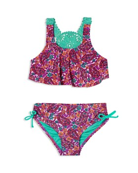 Hula Star - Girls' Paisley Dream 2-Piece Crochet Swimsuit - Little Kid