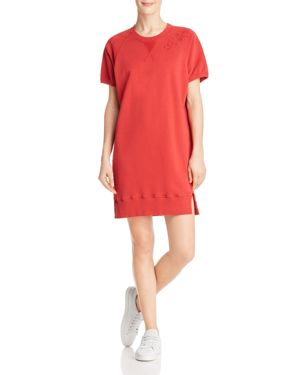 Pistola Quinn Distressed French Terry Sweatshirt Dress