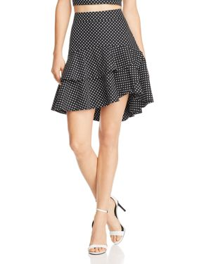 Lucy Paris Belen Ruffled Polka Dot Skirt - 100% Exclusive