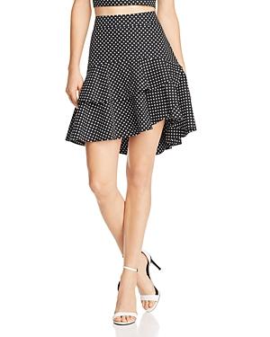 Lucy Paris Belen Ruffled Polka Dot Skirt - 100% Exclusive