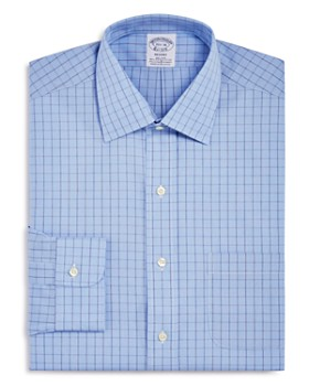 Brooks Brothers - Houndstooth Grid Classic Fit Dress Shirt