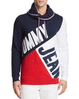 Tommy Hilfiger Tommy Jeans Color-Blocked Funnel Neck Pullover 2857637