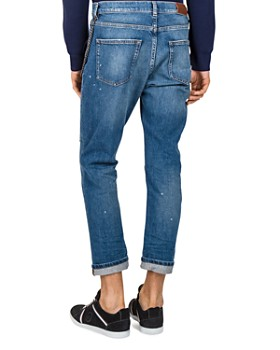 The Kooples - Short Drop Slim Fit Jeans in Blue
