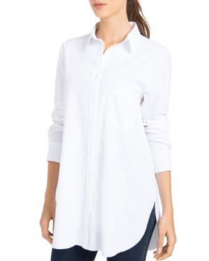 LYSSÉ Schiffer Button-Down Top in White