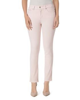 NYDJ - Sheri Frayed-Hem Slim Ankle Jeans in Light Primrose