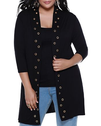 Belldini Plus - Grommet Duster Cardigan