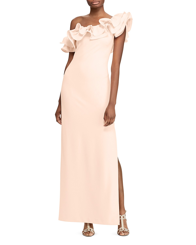 Lauren Ralph Lauren Ruffled One-Shoulder Gown - 100% Exclusive ...