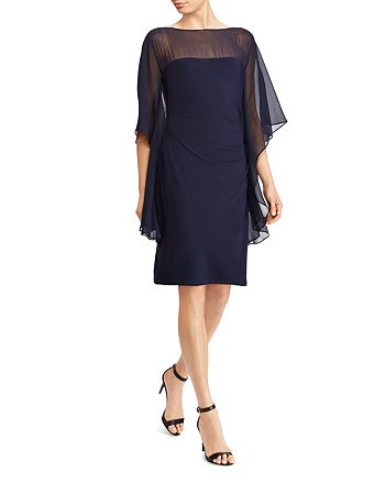 Ralph Lauren - Illusion Flutter-Sleeve Dress